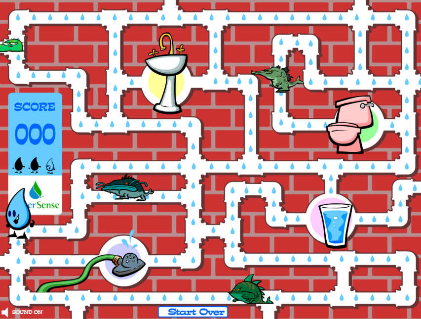 Screenshot of the Test Your WaterSense game