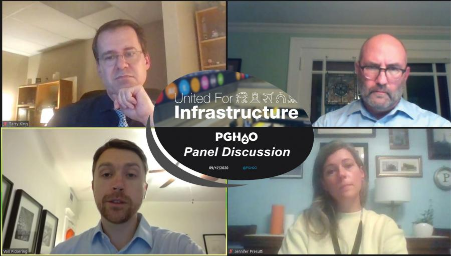 Screenshot of panelists from PWSA United for Infrastructure Panel webinar
