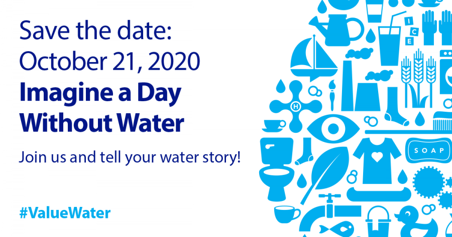 Save the date for Imagine a Day Without Water 2020