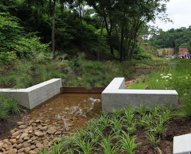 Centre and Herron Green Stormwater project located in the Upper Hill District