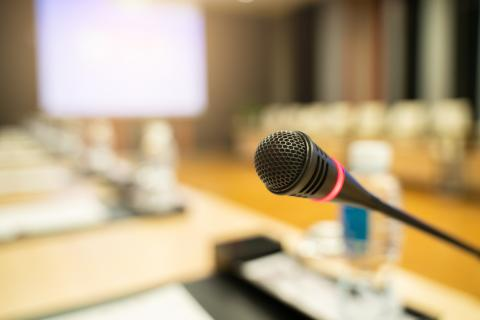 Microphone in a conference room