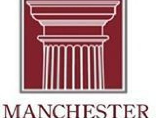 The logo for the Manchester Citizens Corporation: the top of a stone column within a square