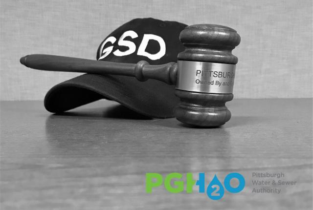 GSD hat and PWSA Board gavel