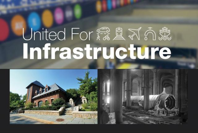 United for Infrastructure event photos graphic